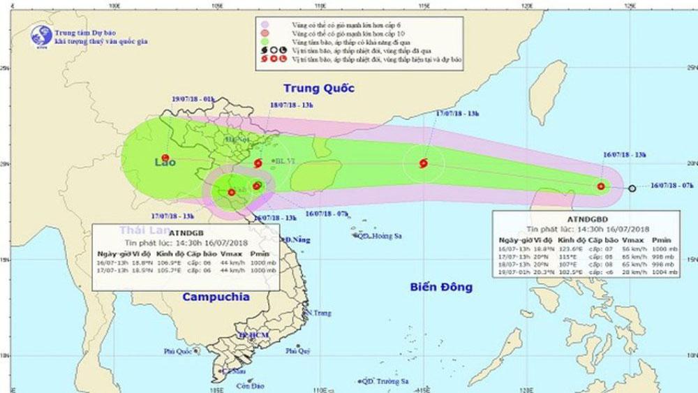 Sạt lở đất, ngập lụt đe dọa các tỉnh phía Bắc